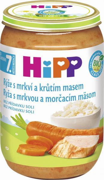 HIPP BIO Ryža s karotkou a morčacím mäsom 220 g