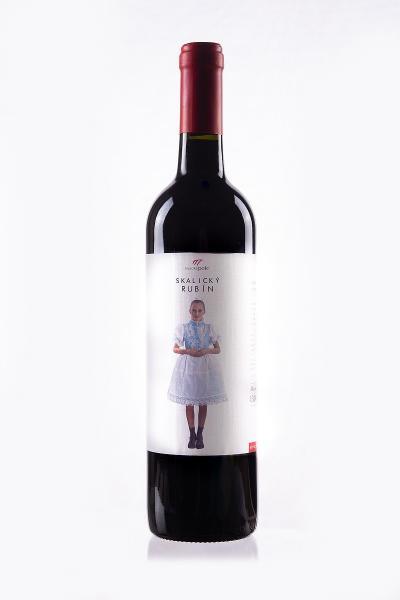 Skalický rubín 0,75l červené značkové víno suché VYSOKÉ POLE