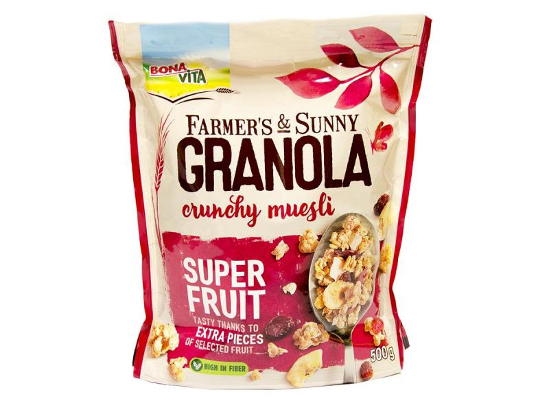 Granola super fruit 500g Bonavita