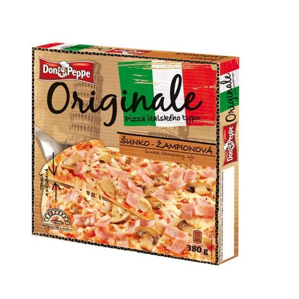Don Peppe Pizza Originale šunka, šampiňóny mraz. 380g