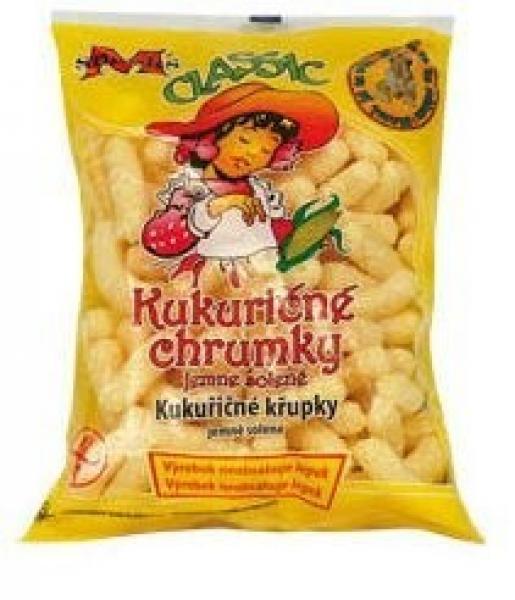 Kukuričné chrumky nesolené 100g M-snacks