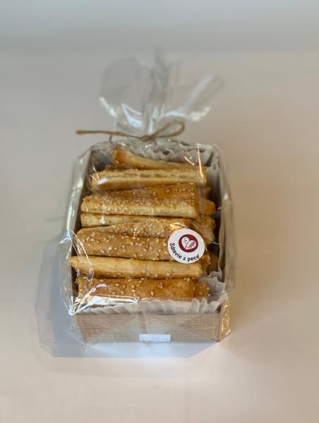 Špaldové slané tyčinky so sezamom 250g Zdravie z pece