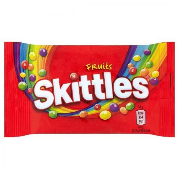 Skittles Fruits žuvacie cukríky s ovocnými príchuťami 38 g