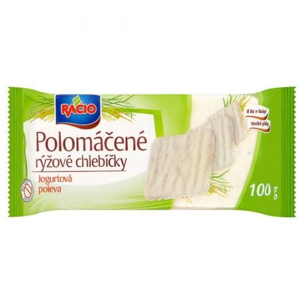 Racio Polomáčané ryžové chlebíčky jogurtová poleva 100 g