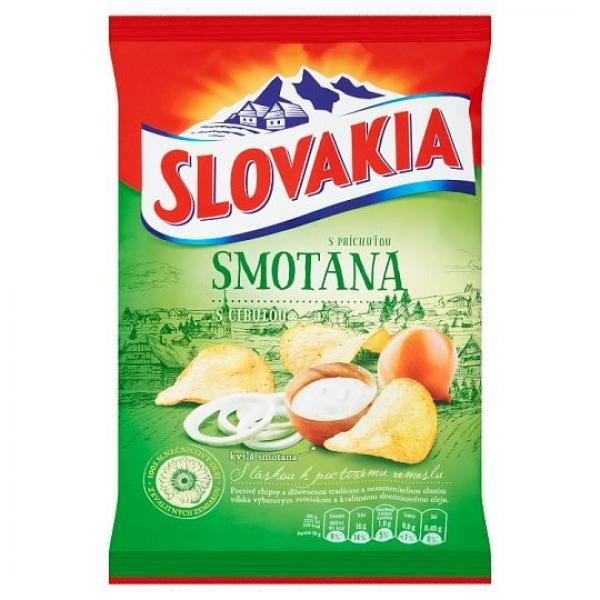 Slovakia Chips S príchuťou smotana s cibuľou70 g