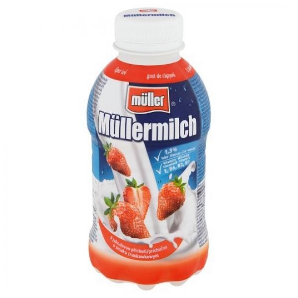 Müller Mliečny nápoj s jahodovou príchuťou 400 g