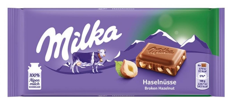 Čokoláda Milka 100g oriešková