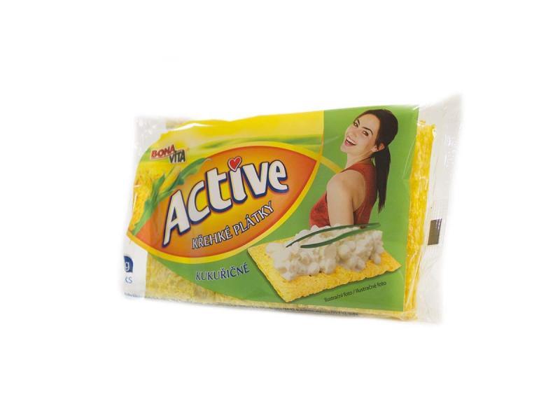 Active krehké plátky kukuričné 70g Bonavita