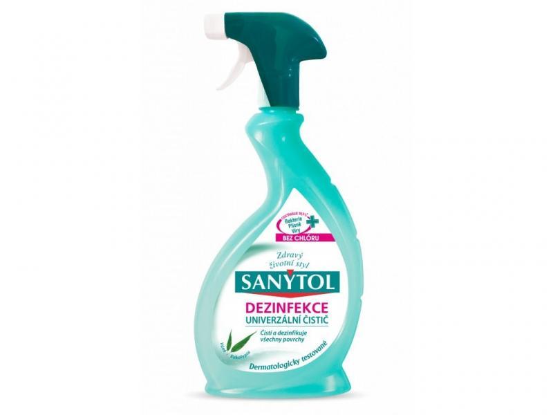 Sanytol dezinfekčný univerzálny čistič v spreji s vôňou eukalyptu 500ml