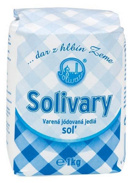 Soľ jemná Solivary Prešov  1kg
