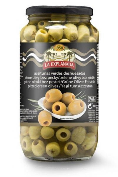 Olivy zelené b.kôstky 935g La Explanada
