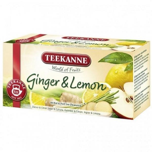 Teekanne ovocný čaj Ginger&Lemon 45g
