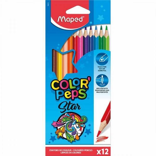 Ceruzky Maped, trojhranný tvar 12 farieb
