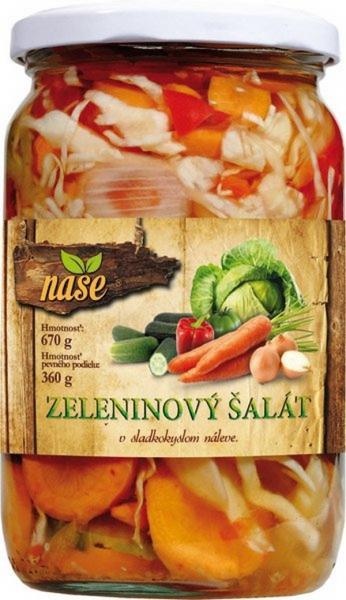 Zeleninový šalát 670g Naše