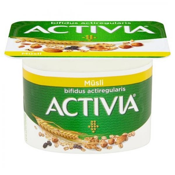 Activia jogurt biely s müsli 120 g