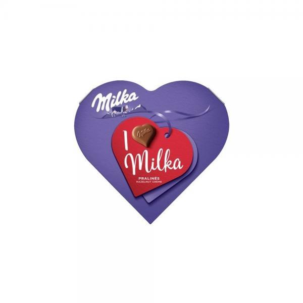 Milka I Love Milka bonboniéra,lieskovooriešková náplň 44g