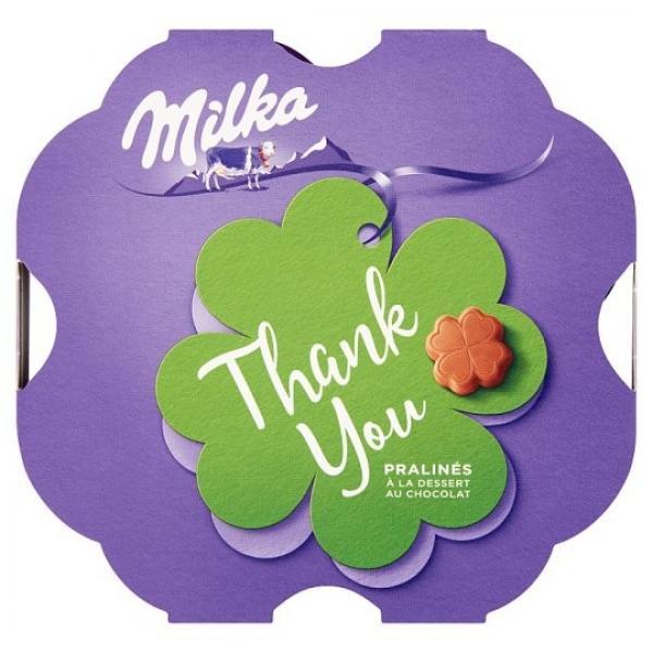 Milka Thank You bonboniéra,kakaová náplň 44g