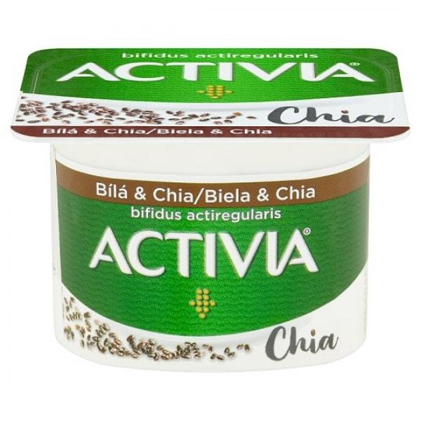 Activia jogurt biely s chia semienkami 120g