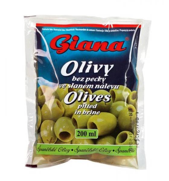 Giana olivy zelené bez kôstky 195g